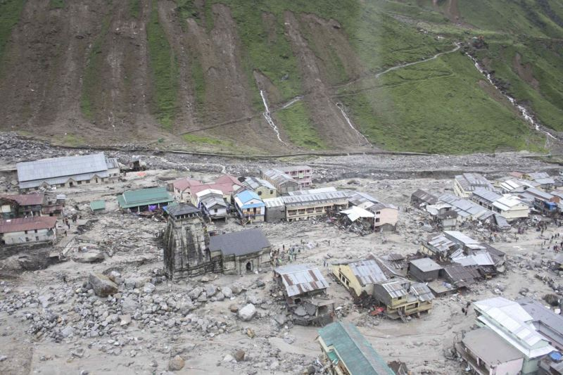 kedarnath shrine saved