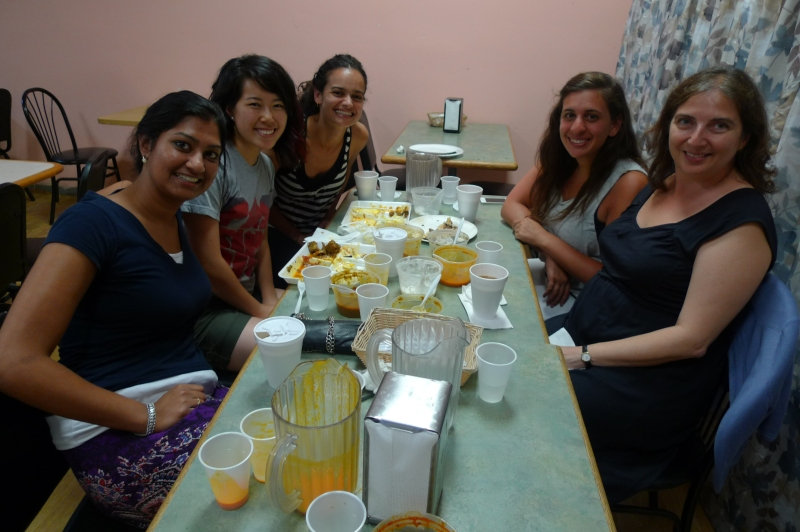 CASI in Philadelphia: Sudi Reddy, W '14, Christina Wu, C '14, Aparna Wilder, C '02, Natalie Volpe, C '13, Juliana Di Giustini (missing from photo Shrestha Singh, C '12, Shikha Bhattacharjee, LAW '13)