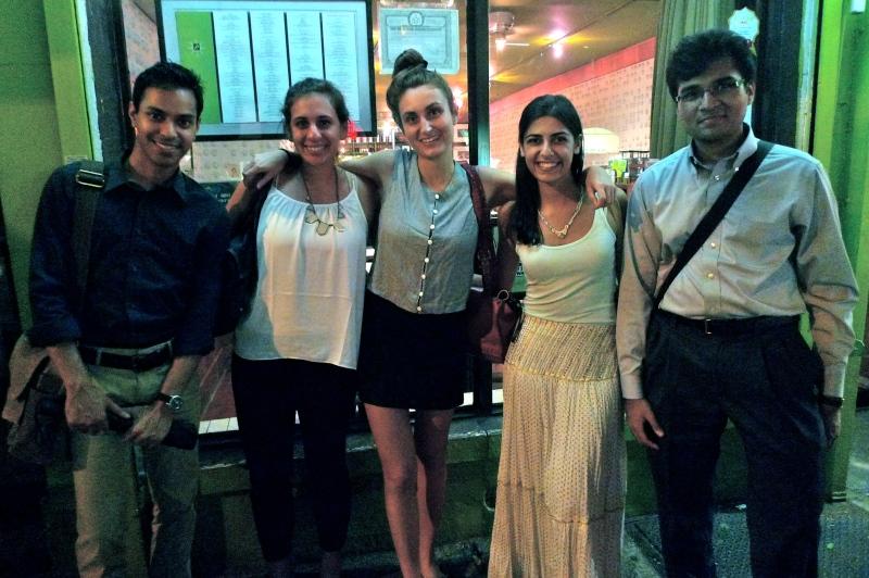 CASI in NYC: Sudeep De, SEAS '12 Natalie Volpe, C '13, Sarah Souli, C '11, Shumita Basu, C '13, Parth Shah, CW '12
