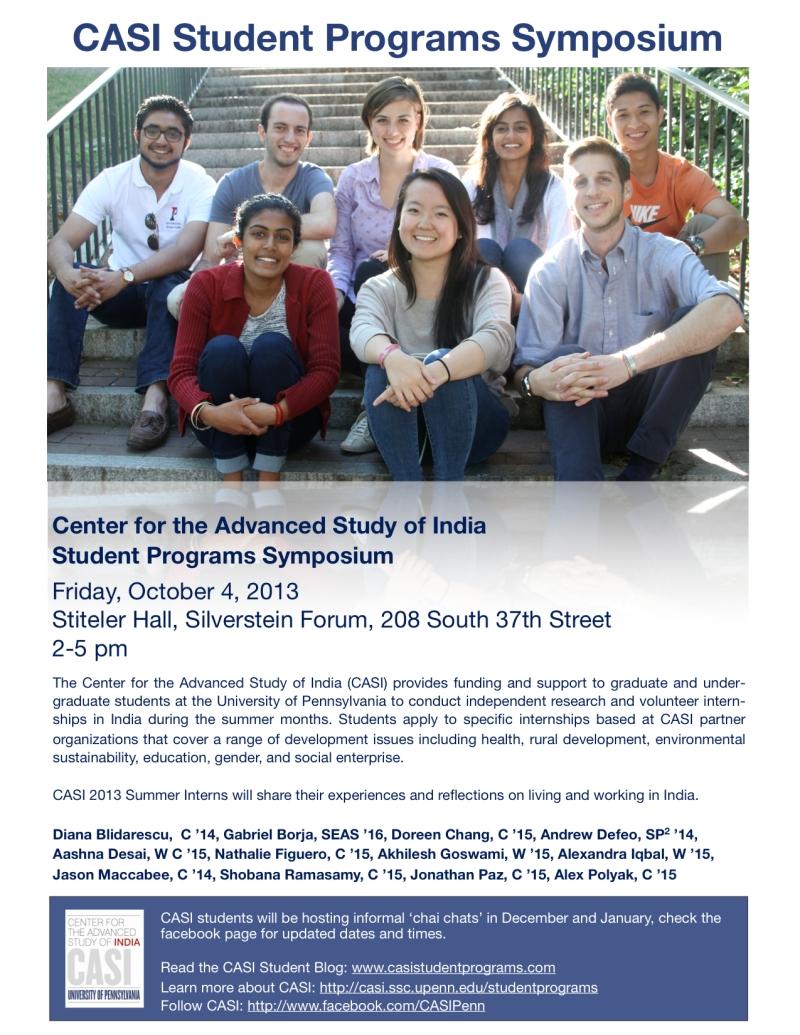 CASI Student Programs Symposium