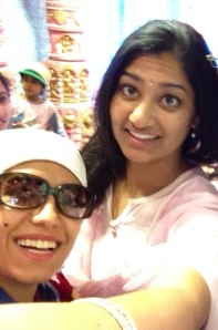 Baheirah and I at Karachi Bakery trying desserts