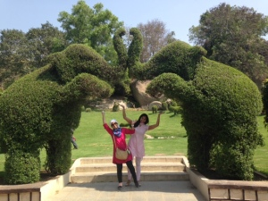 Baheirah and I at Film City (an amusement park in Hyderabad where a lot of local films are also shot)