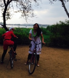 Baheirah and I at the Zoo Park - we biked along the park and found this surprise lake at the end of a remote path