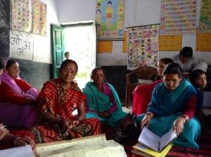 Local women meeting at Sitla school