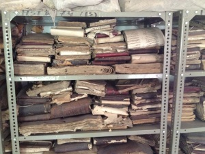 Another uncatalogued shelf of 18th and 19th century documents