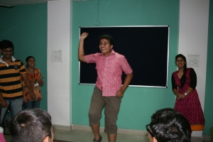 We asked our students to make up a dance movement for the different processes of waste management