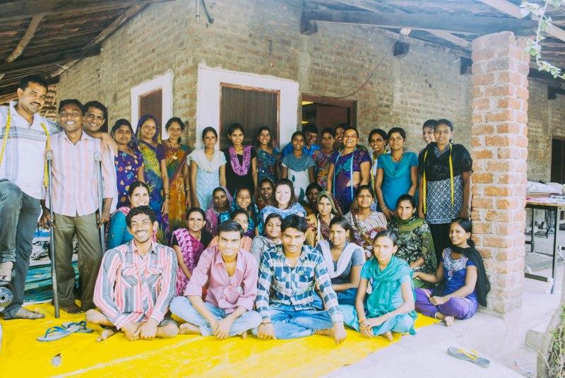 Me with the Kumbaya producers at the Neemkheda bhawan!