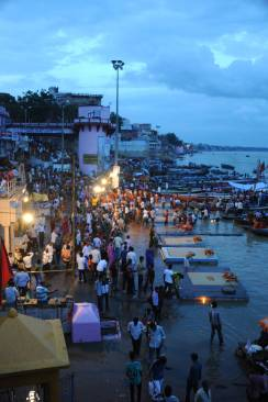 The Ghat where the cremation ceremony was performed daily in the holy city of Varanasi.