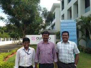 Left to Right: Prabu- Jr Engineer R&D Maanraj- Computer Scientist Sudhakar- Electrical Engineer
