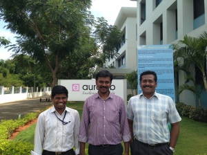 Left to Right: Prabu- Jr Engineer R&D Maanraj- Computer Scientist Sudhakar- Electrical Engineer