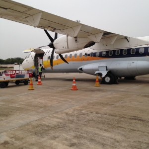The flight that took me from Madurai to Chennai and back.