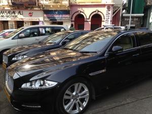 Jaguar Taxi service for the Taj hotel.
