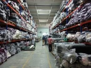 Amount of cloth used per week.