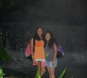 Me (left) and a friend in Costa Rica in 2010.