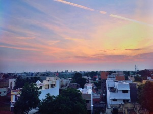 Busra and I followed some staff members onto the roof of our hostel to see this incredible sunset