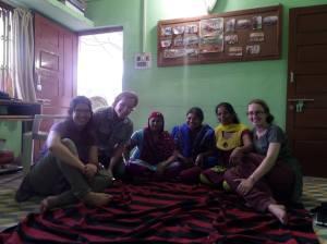 (Left to Right): Me, Andrew, Kiran (mitaan), Nishta (SPS employee), Rukhsana (mitaan), and Sasha