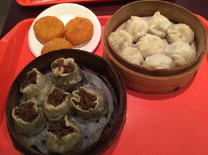 Xiao long bao, shao mai, and pumpkin cakes...because food pictures are always welcome.
