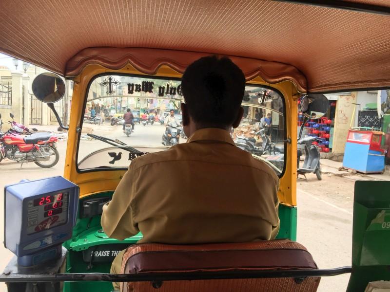 Exploring Bazaar Street by auto