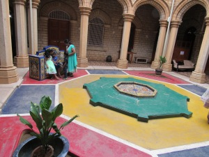 courtyard influenced by Moorish architecture  (photo credit Kendra Carson)
