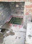 Holy water in a well.