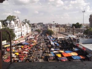 A view from the Charminar balcony