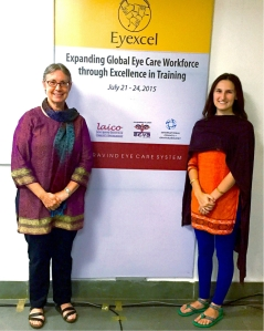 Me and faculty facilitator, Dr. Susan Gilbert of the Seva Foundation