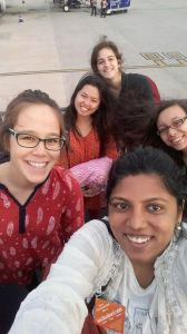 a master at group selfies (about to board on a plane to Orissa)