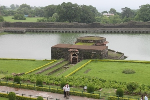 Artificial lake at Jahaz Mahal