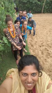 on our way to a village house in Orissa