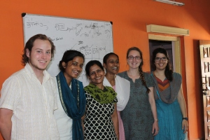 Left to Right: Andrew, Prasann, SPS professional, Ranu, Sasha, and me.