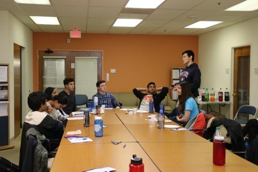 Break Out Sessions! CASI Aravind Alumni Zach Chen, Jane Chen, and Vivek Nimgaonkar speak with CASI's 2016 interns