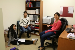 CASI Alum Eileen Wang C'16 leads a break out session on Health in the Himalayas with current CORD interns Rhea Singh and Swathi Raman.