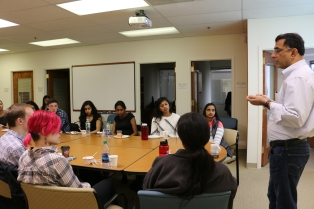 CASI Director, Devesh Kapur begins CASI Orientation with an overview of the economic and political landscape of India.