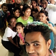 Selfies with the Students at MLN College Workshop 2 Session 1