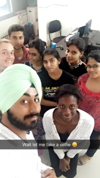 Selfies with the students in Ambala