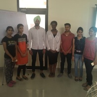 More formal picture with the students in Ambala