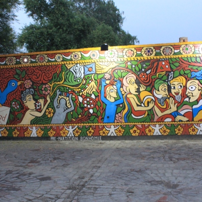 The mural at Sarhad, depicting partition.