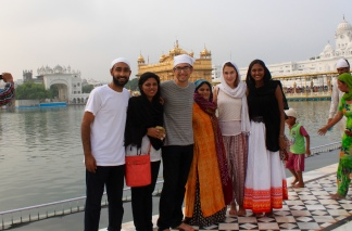 The group of us at the Golden Temple in Amritsar.