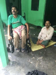 Brothers, Dharamchand and Karamchand, 42 and 38 yr. olds with Muscular Dystrophy