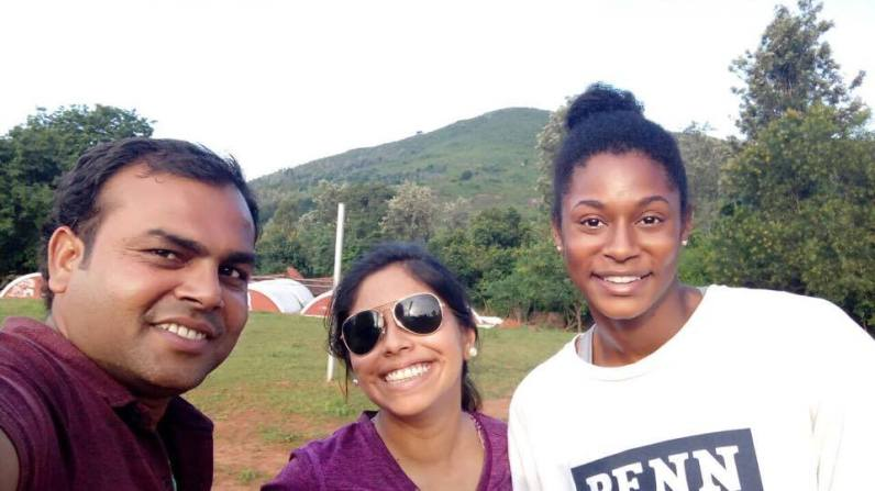 Santosh and us!