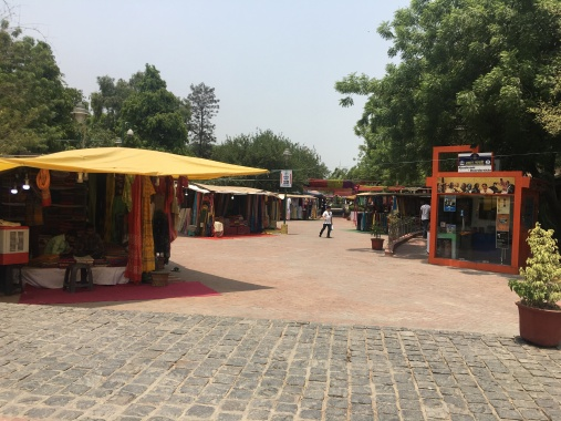 Dilli Haat Bazaar where we paid a 100 rupee entrance fee and proceeded to get ripped off on scarves, pants, and kurtas, but still worth the trip!