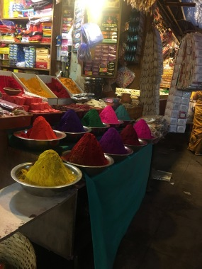 Dyes at Devaraja Market in Mysore