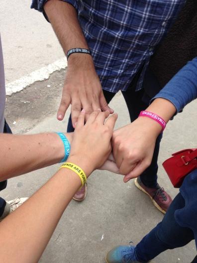 friendship bracelets we bought in Mysore