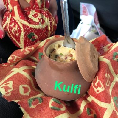 Kulfi in a mini traditional earthen pot